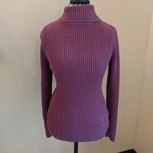 B2G1 Sonoma purple turtle neck top size L